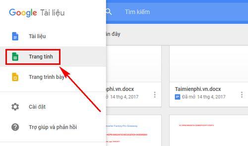 cach tao trang google sheets excel 6