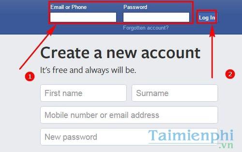 cach dang nhap facebook bang so dien thoai