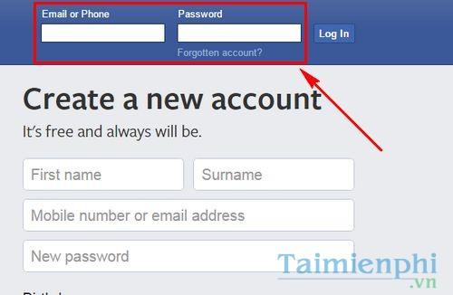 cach dang nhap facebook bang yahoo mail