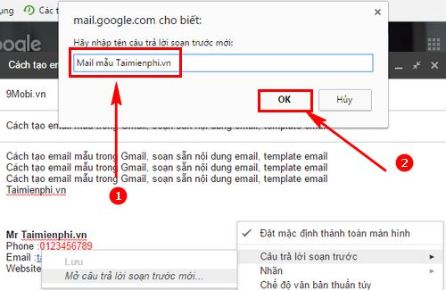 Cách tạo email mẫu trong Gmail, soạn sẵn nội dung email, template email