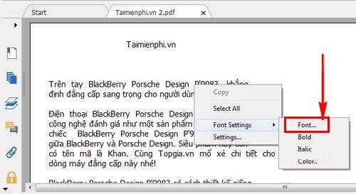 cach thay doi co chu file pdf bang foxit reader 3