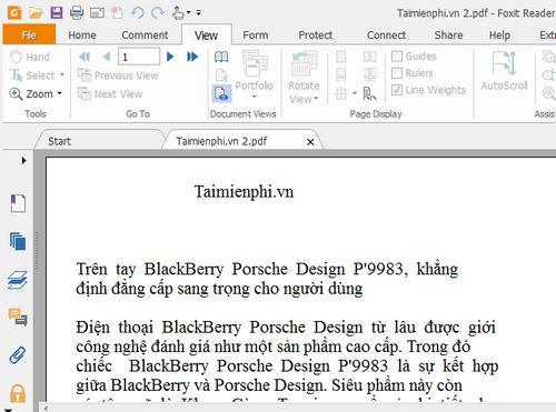 cach thay doi co chu file pdf bang foxit reader 6