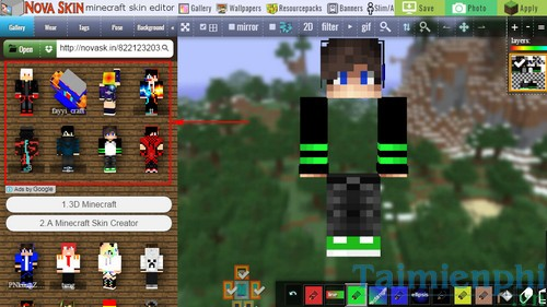 Cách thay skin cho Minecraft, cài skin minecraft