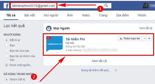 meo khong cho tim mail tren facebook chan tim fb theo mail