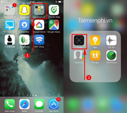 meo xem huong nha bang la ban tren android iphone ipad de dang