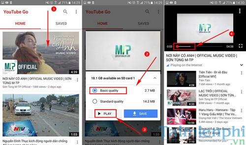Mẹo xem Video Youtube khi hết 3G, 4G bằng Youtube Go