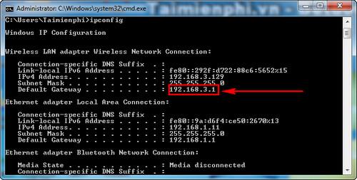 Thủ thuật xác định địa chỉ IP của modem phát WiFi đơn giản 2
