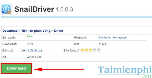 tu dong cap nhat driver tren may tinh windows voi snaildriver