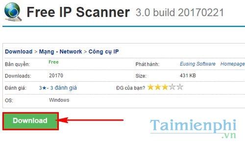 cach su dung phan mem do dia chi ip modem free ip scanner