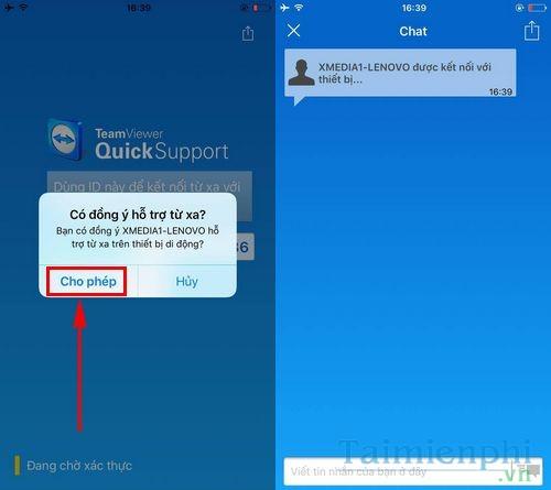Cách sử dụng TeamViewer QuickSupport kết nối máy tính, điện thoại