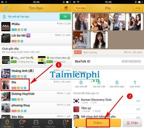 Cách sử dụng Beetalk trên điện thoại iPhone, Samsung S8, HTC