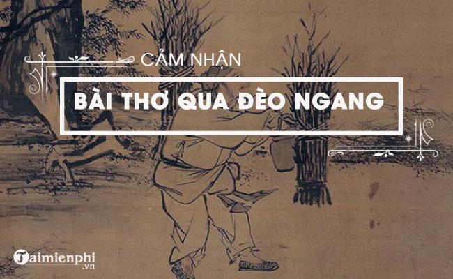 Cảm nhận bài thơ Qua đèo Ngang của bà Huyện Thanh Quan 4