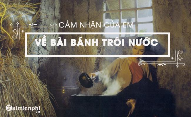Cảm nhận của em về bài thơ Bánh trôi nước của Hồ Xuân Hương