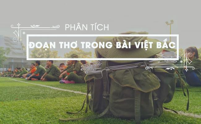 Phân tích đoạn thơ trong bài Việt Bắc