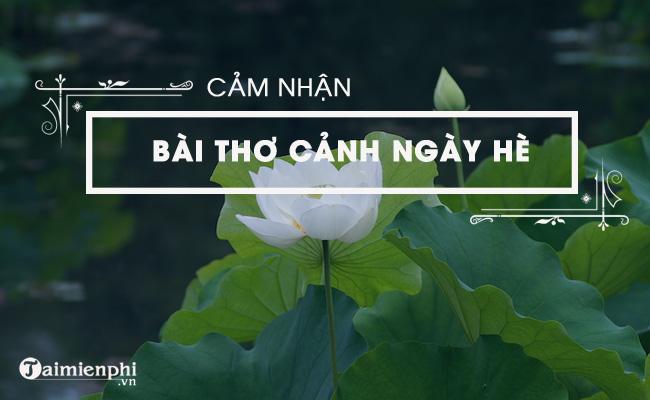 Cảm nhận về bài thơ Cảnh ngày hè của Nguyễn Trãi 3