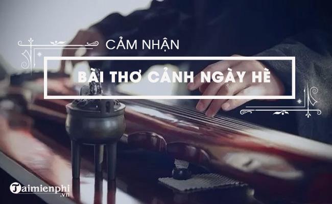 Cảm nhận về bài thơ Cảnh ngày hè của Nguyễn Trãi 5