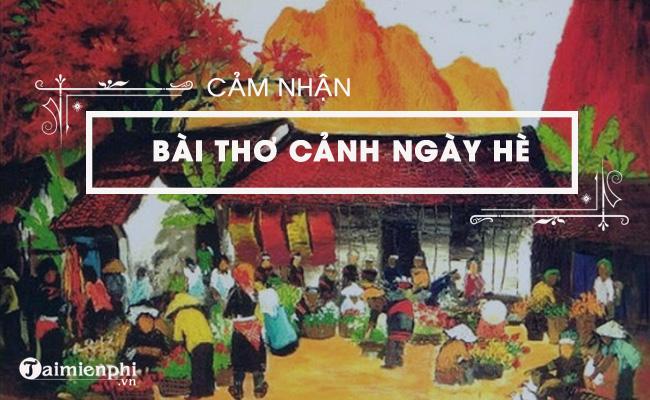 Cảm nhận về bài thơ Cảnh ngày hè của Nguyễn Trãi 6