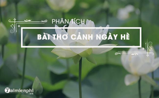 Phân tích bài thơ Cảnh ngày hè của Nguyễn Trãi 3