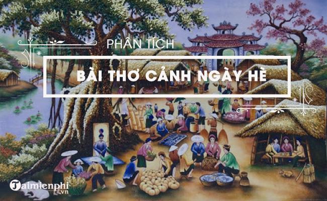 Phân tích bài thơ Cảnh ngày hè của Nguyễn Trãi 4