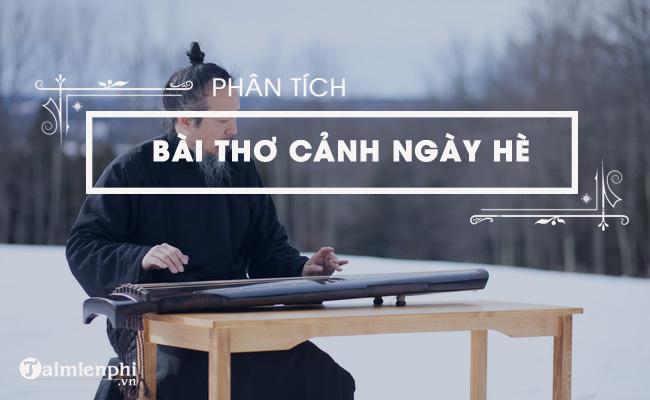 Phân tích bài thơ Cảnh ngày hè của Nguyễn Trãi 5