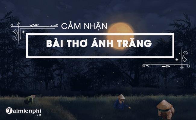 Cảm nhận bài thơ Ánh trăng của Nguyễn Duy