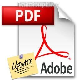 vo hieu hoa, tat thong bao cap nhat trong Adobe Reader
