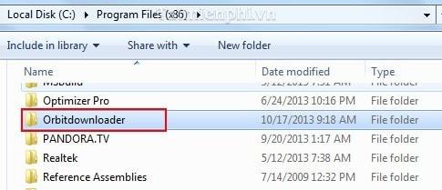 Orbit Downloader - Gỡ, xóa bỏ Orbit Downloader khỏi máy tính