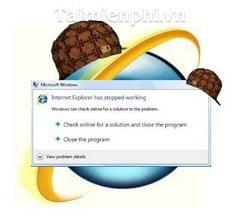 khac phuc, fix loi Internet Explorer has stopped working