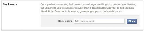 cách chặn người khác trên facebook 3