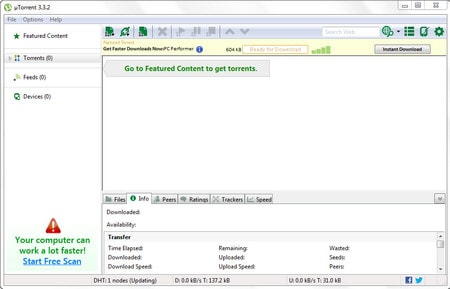 How to install uTorrent speed data download on PC