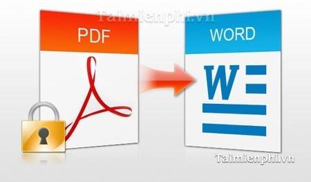 chuyen doi, doi duoi pdf sang word bang PDF to Word Converter