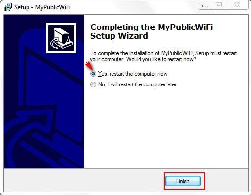 Cài MyPublicWiFi, tạo điểm phát Wifi trên Laptop 7