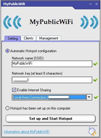 Cài MyPublicWiFi, tạo điểm phát Wifi trên Laptop 8