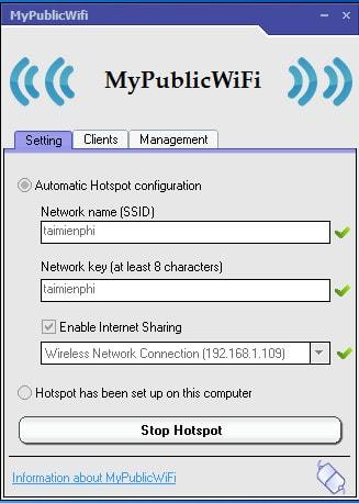 tải về MyPublicWiFi - Phát Wifi trên Máy tính xách tay cho Smartphone, máy tính xách tay 1