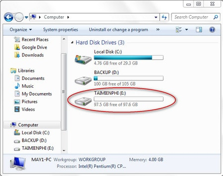 how to split hard drive windows 7