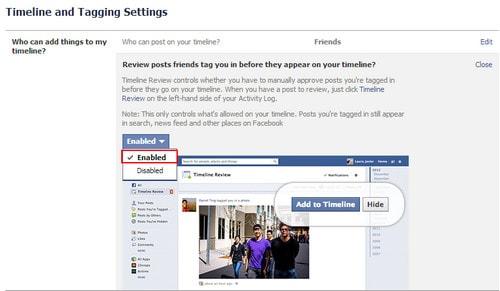 Facebook - Thiết lập chế độ quản lý bài đăng được tag