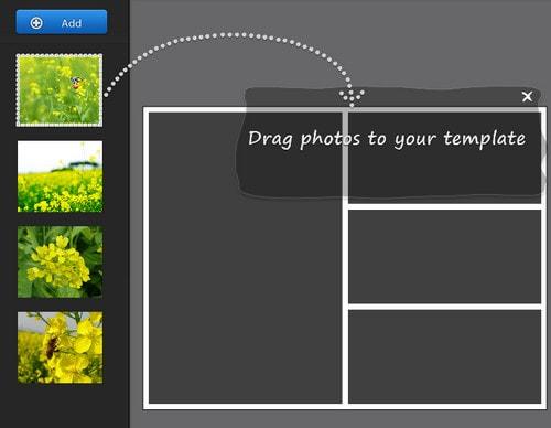 Ghép ảnh vào khung bằng Fotor, khung có sẵn, khung đôi, khung trái tim
