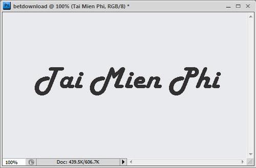 Photoshop - Hướng dẫn tạo chữ mờ trên ảnh 3