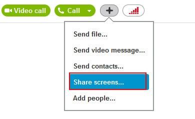 bat tinh nang chia se man hinh desktop skype