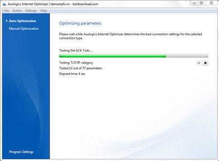 Cách tăng tốc Internet bằng Auslogics BoostSpeed, Auslogics Internet Optimizer