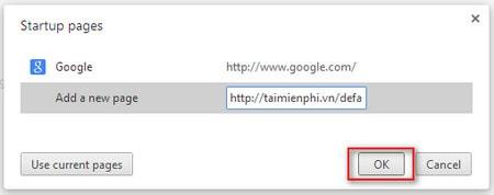 Google Chrome - Thay đổi trang chủ trong trình duyệt
