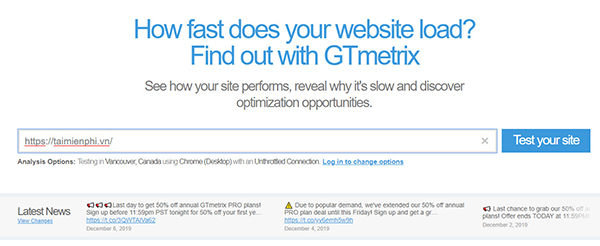 How to test your website according to the time limit on page 4
