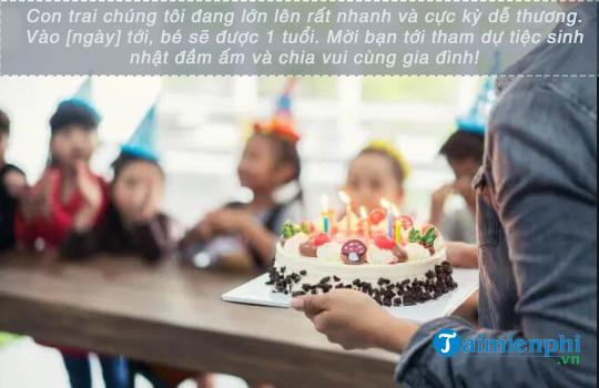Lời mời tham gia tiệc sinh nhật 4