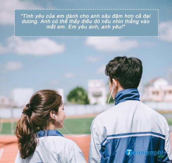 Tin nhắn tình yêu ngọt ngào và lãng mạn cho bạn trai 2