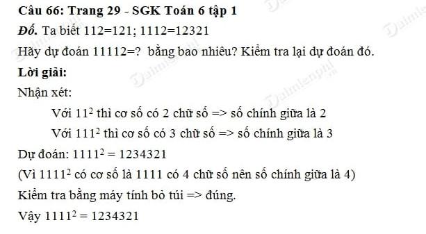 Giải toán lớp 6 tập 1 trang 27, 28, 29 lũy thừa với số mũ tự nhiên, nhân hai lũy thừa cùng cơ số