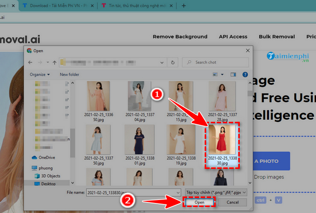 xoa background anh online bang Removal.ai