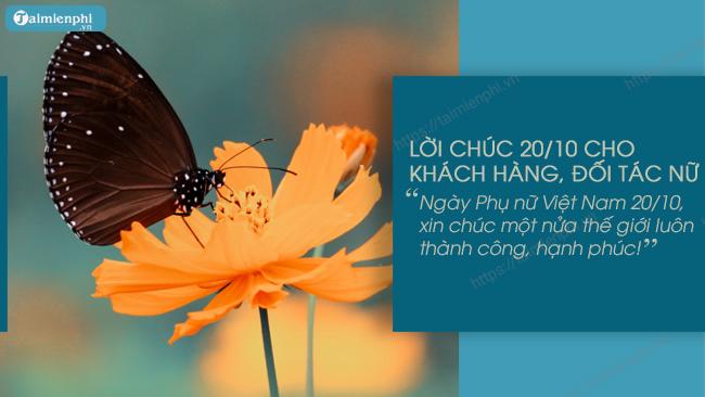 loi chuc 20/10 cho khach hang