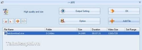 Cách chuyển đuôi *.EXE sang video (MKV, AVI, ...)
