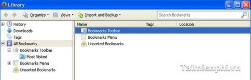 Tạo và xóa bookmark trên Firefox