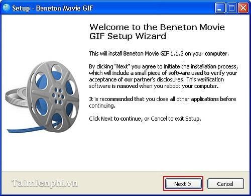 Cách cài Beneton Movie GIF tạo ảnh động